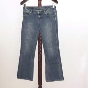 AEO Hipster bootcut distressed jeans